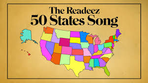 The 50 States Map by The Readeez 50 States Song Youtube