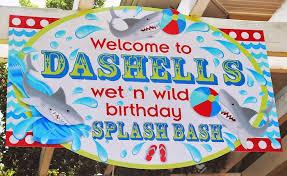 kara u0027s party ideas wet n wild shark themed birthday party