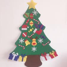 Wall Decoration For Preschool by Kids Preschool Craft Diy Felt Christmas Tree With Ornaments
