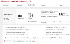 comcast home internet plans comcast displays prominent data usage plan may apply disclaimers
