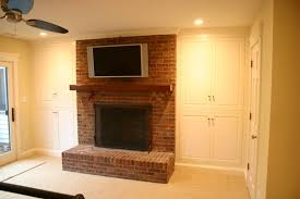Fireplace Side Cabinets by Custom Cabinets