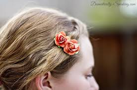 hair barettes 1 minute flower hair barrette domestically speaking