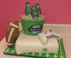beer can cake wendy woo cakes video games beer and football