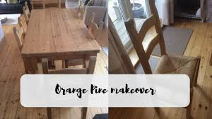how to stain pine table orange pine dining table makeover home revival interiors