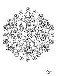 free coloring page coloring flowers mandala coloring