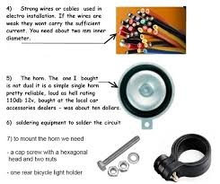 how to build a bicycle car horn using 16 standard rechargable aa