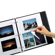 5 X 7 Photo Albums C Line 52572 Clear Photo Holders For Four 5 X 7 Photos 3 Hole