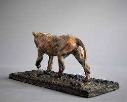 lioness sculpture bronze wildlife sculptures adrian flanagan sculpture