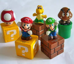 mario cake toppers mario brothers cake topper figures set of 5pc au ebay