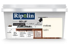 peinture cuisine et bain peinture acrylique ripolin de rénovation cuisine et bain 2l coton