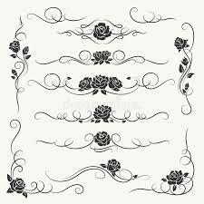 flourish roses decorative ornaments stock vector image 90039592