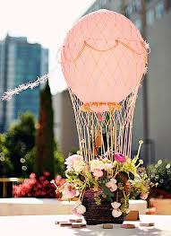 hot air balloon centerpiece 15 non floral centerpieces so stunning you won t miss flowers