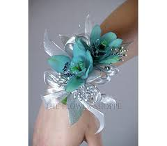 Turquoise Corsage Teal And Silver Corsage Unbelievably Cute D Pinterest Prom