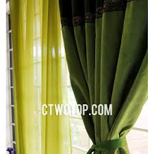 solid blackout india style bedroom apple green curtains