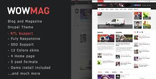 drupal themes latest wowmag blog magazine news drupal theme wowmag has features