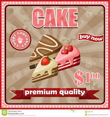 affiche cuisine vintage affiche de gâteau de vintage illustration de vecteur illustration