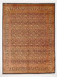 Black Gold Rug Large 13x9 Silk Black Gold Qom Persian Rugs Gorgeous Qum Carpets
