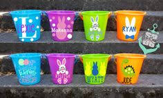 personalized easter baskets for toddlers create your own easter baskets with vinyl and plastic buckets from