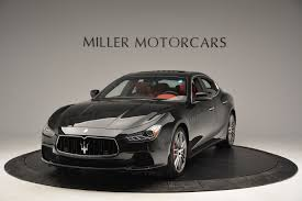 black maserati ghibli 2017 maserati ghibli s q4 stock m1687 for sale near westport ct