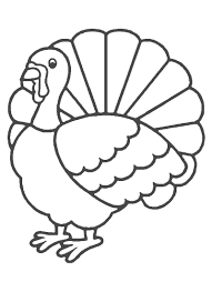 stencil turkey coloring page free download