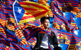 Estelada Flag A Fc Barcelona Fan Waves The So Called Estelada Flag Catalunya U0027s