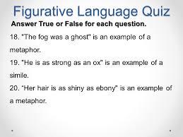 figurative language quiz ppt video online download