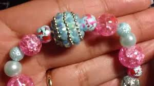 beaded stretchy bracelets and key chains youtube
