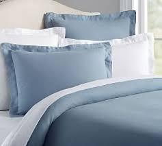 Dusty Blue Duvet Cover Blue Bedding Pottery Barn