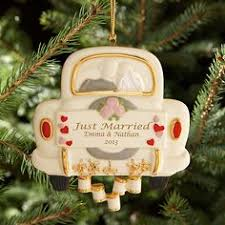 just married ornament personalized marriage ornament newly