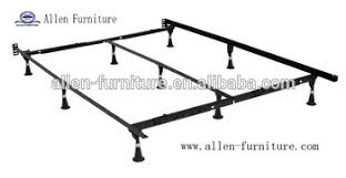 universal heavy duty metal bed frame with center supoport and 9