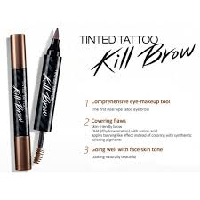 amazon com clio tinted tattoo kill brow 002 makeup soft brown