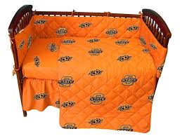 Cowboy Crib Bedding by Amazon Com College Oklahoma State Cowboys Orange Crib Set Crib