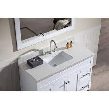 Quartz Countertop Ariel Bath F049s Wq Wht Hamlet 49 Single Sink Vanity Set In White