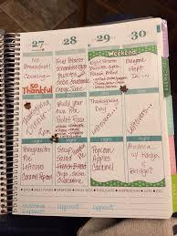 thanksgiving meal planning exercise menu planning planner my erin condren
