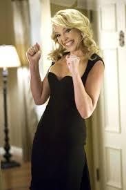 katherine heigl black satin celebrity cocktail party dress