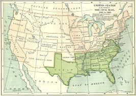 map of the us states in 1865 the united states during the civil war