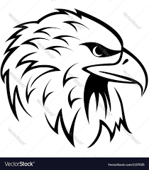 eagle head tattoo royalty free vector image vectorstock