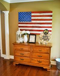 Wooden American Flag Wall Hanging D I Y Distressed Wooden American Flag