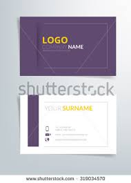 Purple Business Cards Business Card Template Vector Background Purple Stock Vector