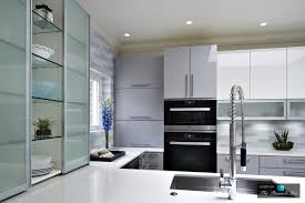 Miele Kitchens Design by Custom Glass Door Cabinetry In Modern High Gloss Kitchen Design