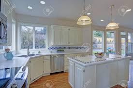 kitchen cabinets open floor plan spacious open floor plan kitchen interior with white shaker cabinets