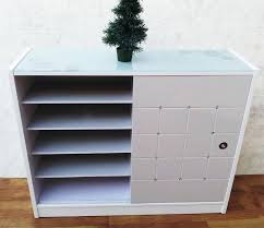 white sliding door cabinet shoes cabinet with button and sliding door