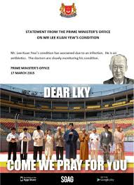 Lee Kuan Yew Meme - activated the famous 10 religious leaders in singapore to pray for