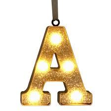 nicholas square glitter light up marquee letter ornament