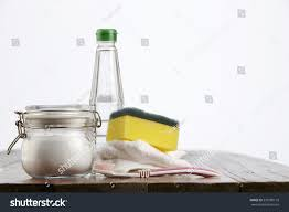 cleaning agent baking soda vinegar stock photo 539700118