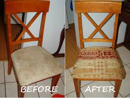 Simple Tutorial On How To Reupholster Dining Room Chairs DIY On - Reupholstered dining room chairs