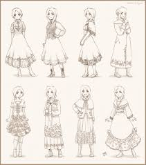 auries dress sketches by meago on deviantart