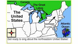 Northeast Map Usa by Northeastern U S A Geography Song Youtube