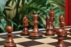 the b h wood series chess set 3 75