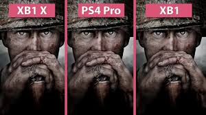 pubg xbox one x graphics call of duty wwii xbox one x vs ps4 pro vs xbox one graphics